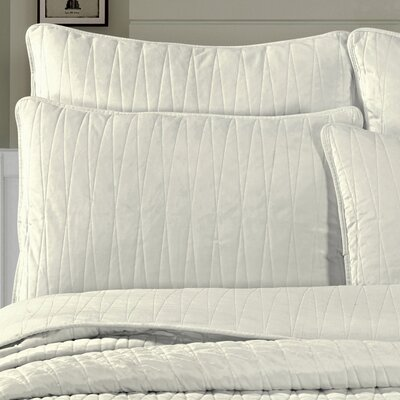 Premium Velvet Pillow Sham Size: King, Color: Off White
