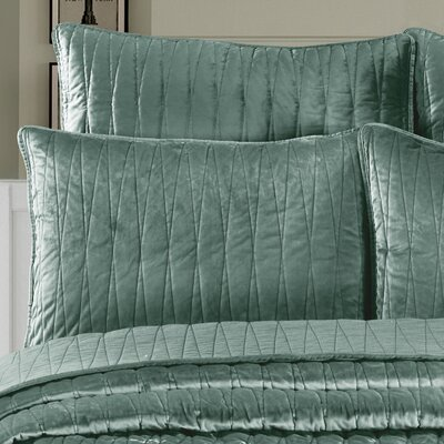Premium Velvet Pillow Sham Size: King, Color: Seafoam