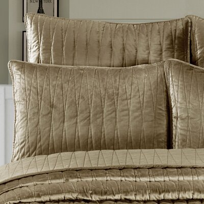 Premium Velvet Pillow Sham Size: King, Color: Khaki