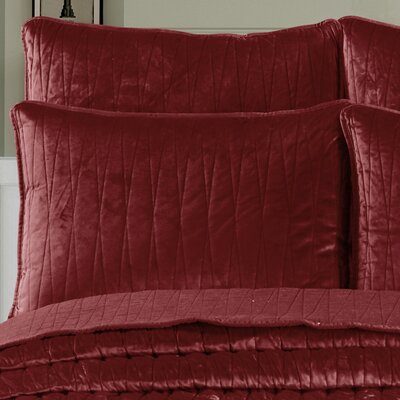 Premium Velvet Pillow Sham Size: King, Color: Burgundy