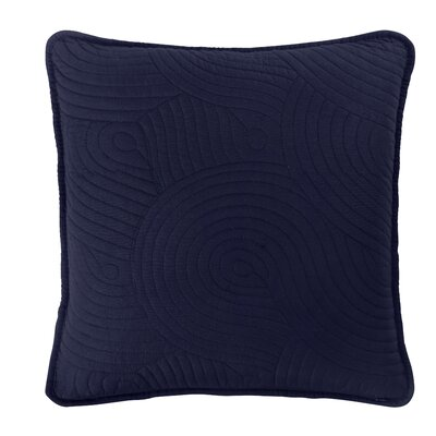 Wave Euro Sham Color: Navy/White