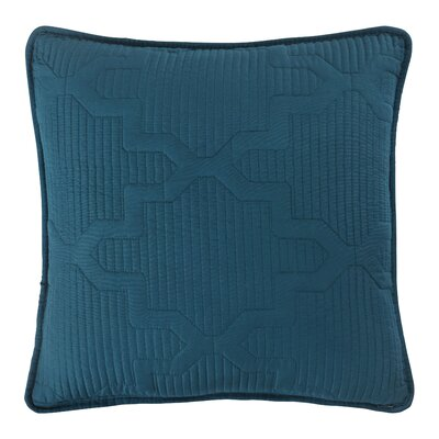 Casablanca Embroidered Euro Sham Color: Spice/Teal