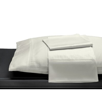 100% Cotton 400 Thread Count Pillow Case Size: King, Color: Ivory