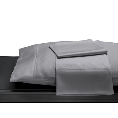 100% Cotton 400 Thread Count Pillow Case Size: Standard/Twin, Color: Gray
