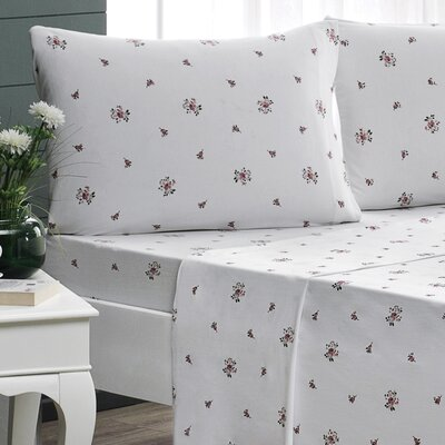 Rose Garden Jersey Sheet Set Size: Queen