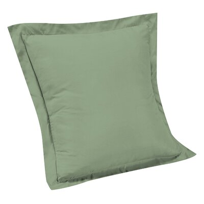 Stream Solid Euro Sham Color: Sage