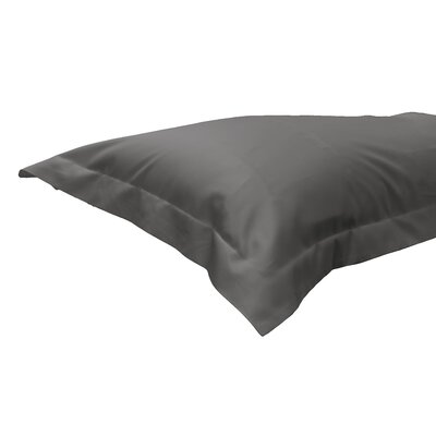 630 Thread Count Egyptian-Quality Cotton Sham Color: Stone Gray, Size: Standard/Twin