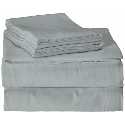 Flannel 100% Cotton Sheet Set Size: Queen