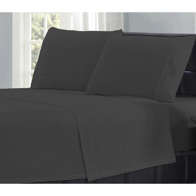 Flannel Sheet Set Size: King, Color: Charcoal