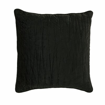 Premium Heavy Velvet Pillow Cover Color: Charcoal