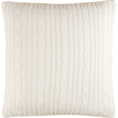 Cozy Cable Knit Throw Pillow Cover Color: Ivory