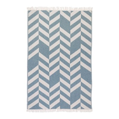 Chevron Fashion Bath Sheet Color: Petroleum