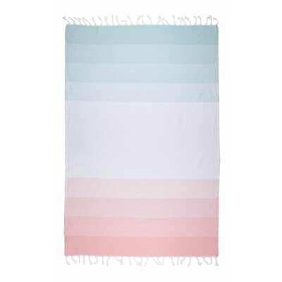 Shades Fashion Bath Sheet Color: Mint/Peach