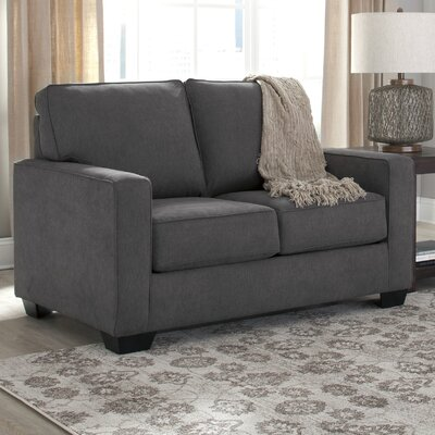 Benchcraft Zeb Twin Sleeper Sofa Upholstery: Charcoal