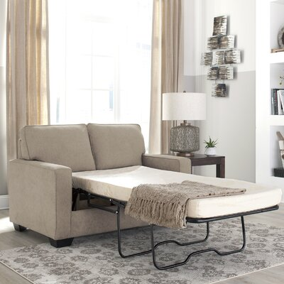 Zeb Twin Sleeper Sofa Upholstery: Quartz