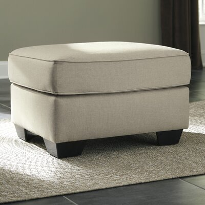 Calicho Ottoman Upholstery: Ecru