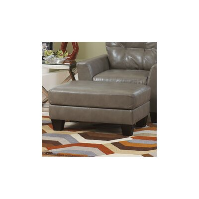 Paulie DuraBlend Leather Ottoman Upholstery: Quarry