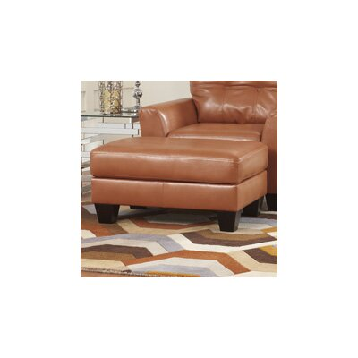 Paulie DuraBlend� Leather Ottoman Upholstery: Orange