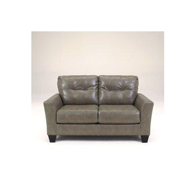 Paulie DuraBlend Loveseat Upholstery: Gray