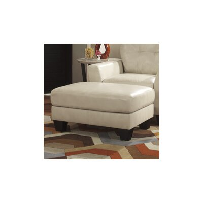Paulie DuraBlend Leather Ottoman Upholstery: Taupe
