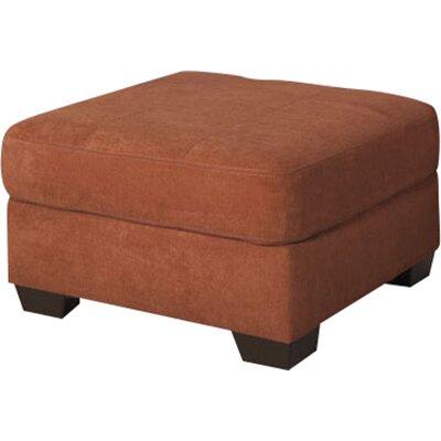 Delta City Oversized Ottoman Upholstery: Rust