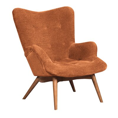 Pelsor Lounge Chair Upholstery: Orange