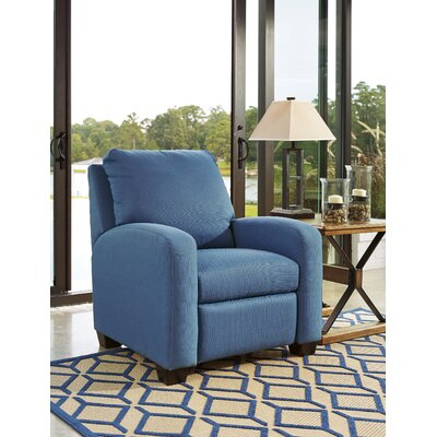 Ayanna Recliner Upholstery: Blue