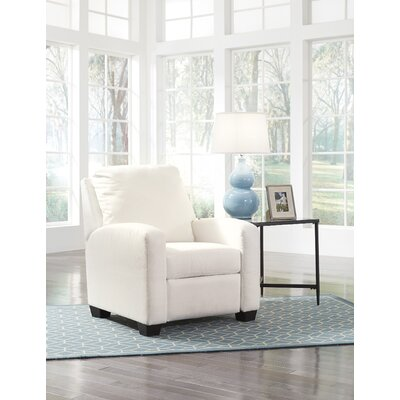 Ayanna Recliner Upholstery: White