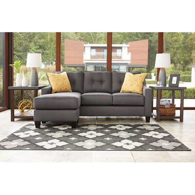 Aldie Reversible Sectional with Ottoman