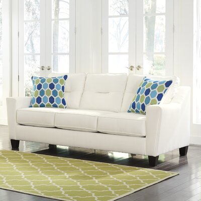 Forsan Sleeper Sofa Upholstery: White