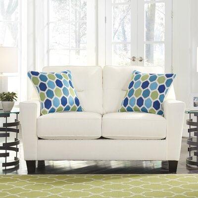 Forsan Loveseat Upholstery: White