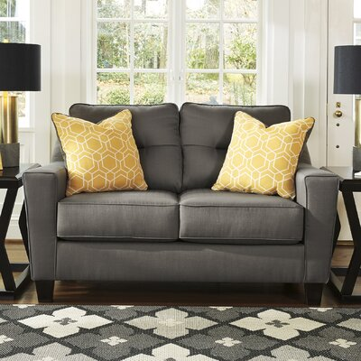 Huebert Loveseat Upholstery: Gray