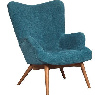 Pelsor Lounge Chair Upholstery: Blue