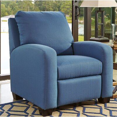Ayanna Manual Recliner Upholstery: Blue