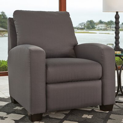 Ayanna Manual Recliner Upholstery: Gray