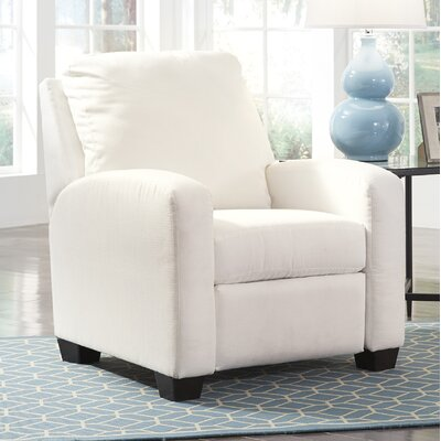Ayanna Manual Recliner Upholstery: White