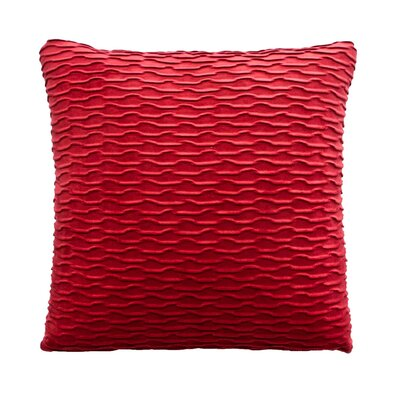 Ripple Throw Pillow Color: Rouge / Red