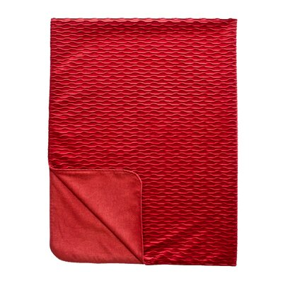 Ripple Throw Blanket Color: Rouge / Red