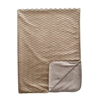 Ripple Throw Blanket Color: Dove / Silver