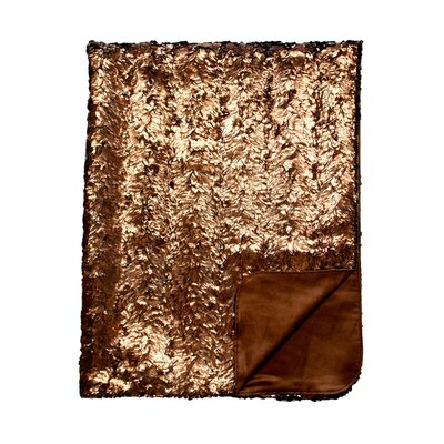 Shimmer and Suave Throw Blanket Color: Shimmer Bronze / Suave Chocolate
