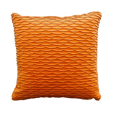 Ripple Throw Pillow Color: Mango / Orange