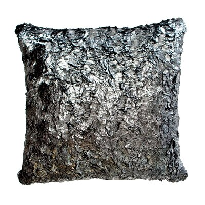 Throw Pillow Color: Shimmer Silver / Suave Black