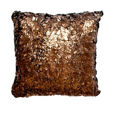 Throw Pillow Color: Shimmer Bronze / Suave Chocolate
