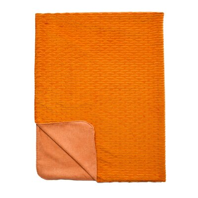 Ripple Throw Blanket Color: Mango / Orange