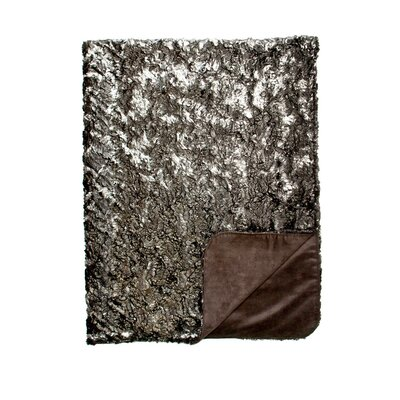 Shimmer and Suave Throw Blanket Color: Shimmer Silver / Suave Black