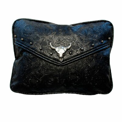 Tooled Lumbar Pillow Color: Black