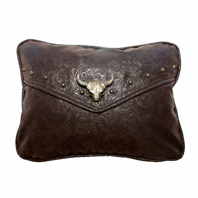 Tooled Lumbar Pillow Color: Trail