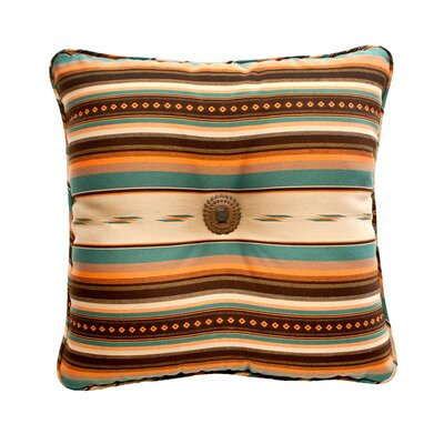 La Fonda Throw Pillow Color: Teal