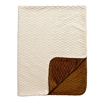 Ripple Throw Blanket Color: Ivory / White
