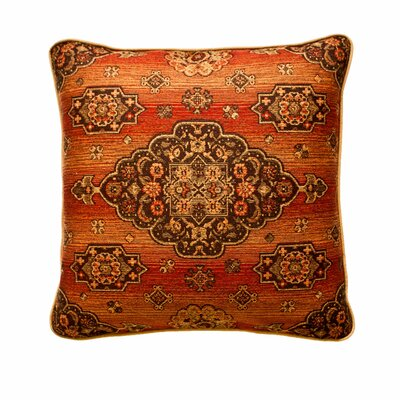 Kensington Reversible Euro Sham Color: Rust